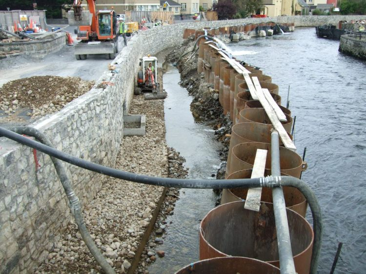 Ennis Flood Scheme. The EIS for this scheme said there would be no instream works. This is clearly instream works and was undertaken during the lamprey spawning season in a SAC designated for lampreys.