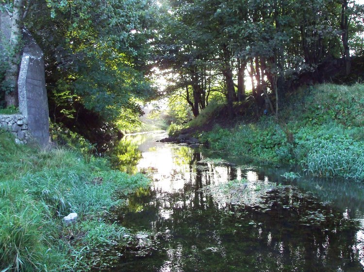 River Nanny, August 2006, prior to extensive instream works and encroachment of development in the town centre